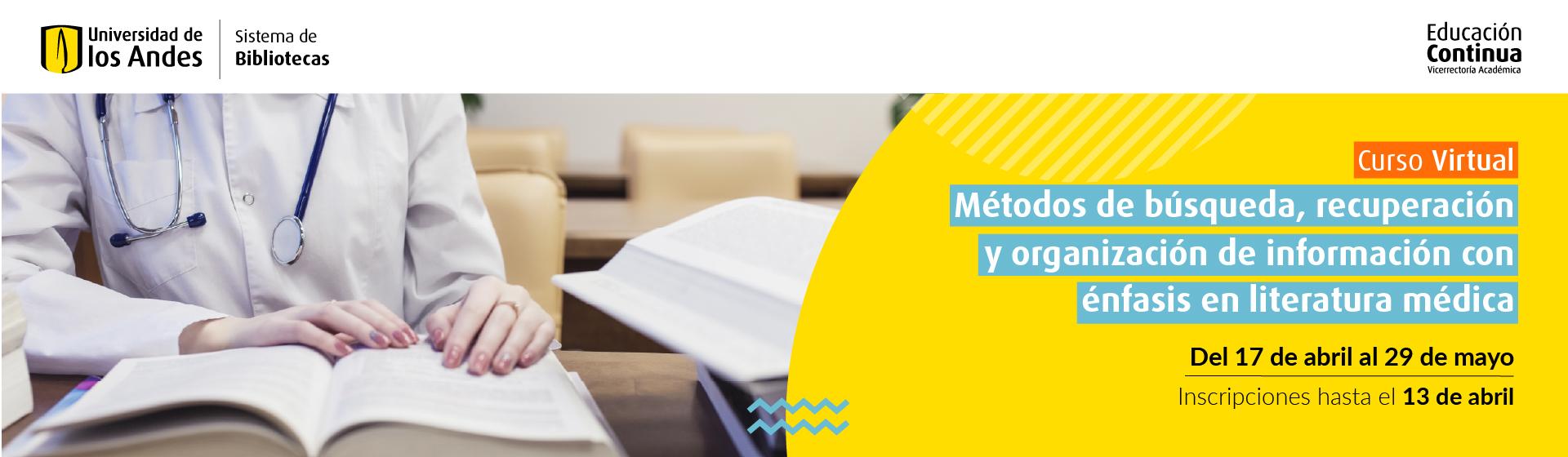 Métodos de búsqueda medicina | Uniandes
